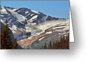 Mountain Ranges Greeting Cards - Jackson Glacier - Glacier National Park MT Greeting Card by Christine Till