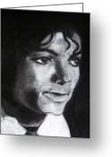 Michael Jackson Greeting Cards - Jackson Greeting Card by Michael Henzel