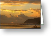 Playa Greeting Cards - Jaco Sunset Greeting Card by Daniel  Taylor