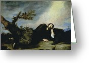 Slumber Greeting Cards - Jacobs Dream Greeting Card by Jusepe de Ribera