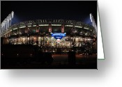 Touchdown Greeting Cards - Jacobs Field Greeting Card by Robert Harmon