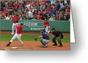 Baseball Artwork Greeting Cards - Jacoby Ellsbury Greeting Card by Juergen Roth