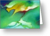Spiritual Pastels Greeting Cards - Jade Ice Greeting Card by Angela Treat Lyon