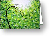 Lafferty Sculpture Greeting Cards - Jade Morning Greeting Card by Daniel Lafferty