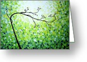 Lafferty Sculpture Greeting Cards - Jade Serenity Greeting Card by Daniel Lafferty