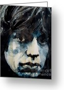 Rolling Stones Greeting Cards - Jagger no3 Greeting Card by Paul Lovering