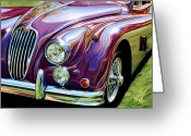 British Digital Art Greeting Cards - Jaguar 140 Coupe Greeting Card by David Kyte