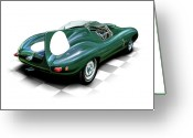 Race Greeting Cards - Jaguar D Type Greeting Card by David Kyte