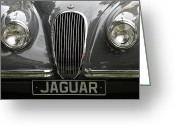 Antique Automobile Greeting Cards - Jaguar Greeting Card by Dennis Hedberg