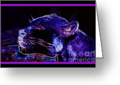 Essential Digital Art Greeting Cards - Jaguar Dreaming Your Tomorrow Greeting Card by Susanne Still