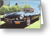 Jaguar E Type Greeting Cards - Jaguar E Type III Greeting Card by Richard Herron