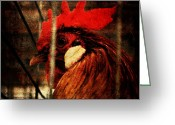 County Jail Greeting Cards - Jail Bird Greeting Card by Sharon Coty