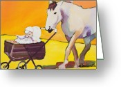 Horse Greeting Cards - Jake Greeting Card by Pat Saunders-White