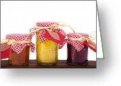 Merchandise Photo Greeting Cards - Jam jelly and pickle Greeting Card by Jane Rix