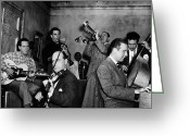 Carousel Collection Greeting Cards - Jam Session, 1947 Greeting Card by Granger