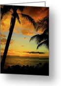 Jamaican Sunsets Greeting Cards - Jamaican Night Greeting Card by Kamil Swiatek