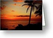Tropical Photographs Greeting Cards - Jamaican Sunset Greeting Card by Kamil Swiatek