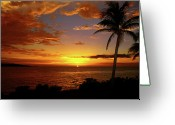 Jamaican Sunsets Greeting Cards - Jamaicas Warm Breeze Greeting Card by Kamil Swiatek
