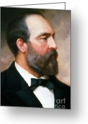U.s.a. President Greeting Cards - James A. Garfield Greeting Card by Photo Researchers