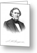 Autograph Greeting Cards - James Asheton Bayard Greeting Card by Granger