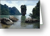 Khao Greeting Cards - James Bond Island, A Limestone Greeting Card by Jason Edwards