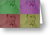Silhouettes Of Famous People Greeting Cards - James Bond Ready To Kick Some Ass Greeting Card by Robert Margetts