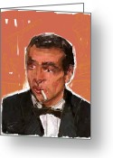 Not Mixed Media Greeting Cards - James Bond Greeting Card by Russell Pierce