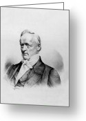 Democrats Greeting Cards - James Buchanan - President of the United States of America Greeting Card by International  Images