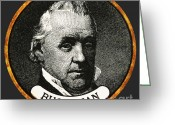 Democrat Party Greeting Cards - James Buchanan, 15th American President Greeting Card by Photo Researchers