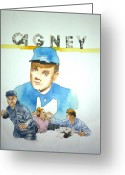 Yankee Doodle Dandy Greeting Cards - James Cagney Greeting Card by Bryan Bustard