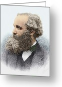 Maxwell Greeting Cards - James Clerk Maxwell, Scottish Physicist Greeting Card by Sheila Terry