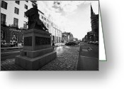 Maxwell Greeting Cards - James Clerk Maxwell Scupture At The East Side Of George Street In The Georgian New Town Edinburgh Sc Greeting Card by Joe Fox