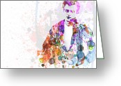 Cult Film Painting Greeting Cards - James Dean Greeting Card by Irina  March