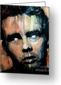 Movie Legend Greeting Cards - James Dean Greeting Card by Paul Lovering