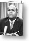 Civil Rights Greeting Cards - James Farmer (1920-1999) Greeting Card by Granger