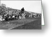 Athlete Greeting Cards - James Jesse Owens Greeting Card by Granger