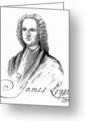 Autograph Greeting Cards - James Logan (1674-1751) Greeting Card by Granger