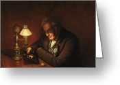 Sat Greeting Cards - James Peale Greeting Card by Charles Willson Peale