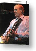 Taylor Guitar Greeting Cards - James Taylor Greeting Card by Jack Dagley