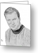 Starship Enterprise  Greeting Cards - James Tiberius Kirk Greeting Card by Thomas J Herring