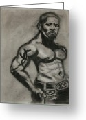 Muscular Drawings Greeting Cards - Jamie Foxx Greeting Card by Jasmine Harris
