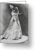 Charcoal Greeting Cards - Jamison Greeting Card by Toni  Thorne