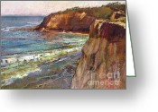 Waves Pastels Greeting Cards - Jan Juc Greeting Card by Pamela Pretty