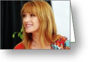 Anaheim California Greeting Cards - Jane Seymour Greeting Card by Al Bourassa