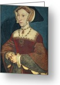 British Royalty Painting Greeting Cards - Jane Seymour Greeting Card by Holbein