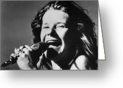 Blues Greeting Cards - Janis Joplin (1943-1970) Greeting Card by Granger