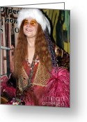 Joplin Greeting Cards - Janis Joplin Greeting Card by Sophie Vigneault