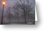 Etherial Greeting Cards - January fog 3 Greeting Card by Anita Burgermeister