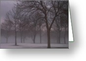 Etherial Greeting Cards - January fog 4 Greeting Card by Anita Burgermeister
