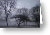 Etherial Greeting Cards - January fog 6 Greeting Card by Anita Burgermeister